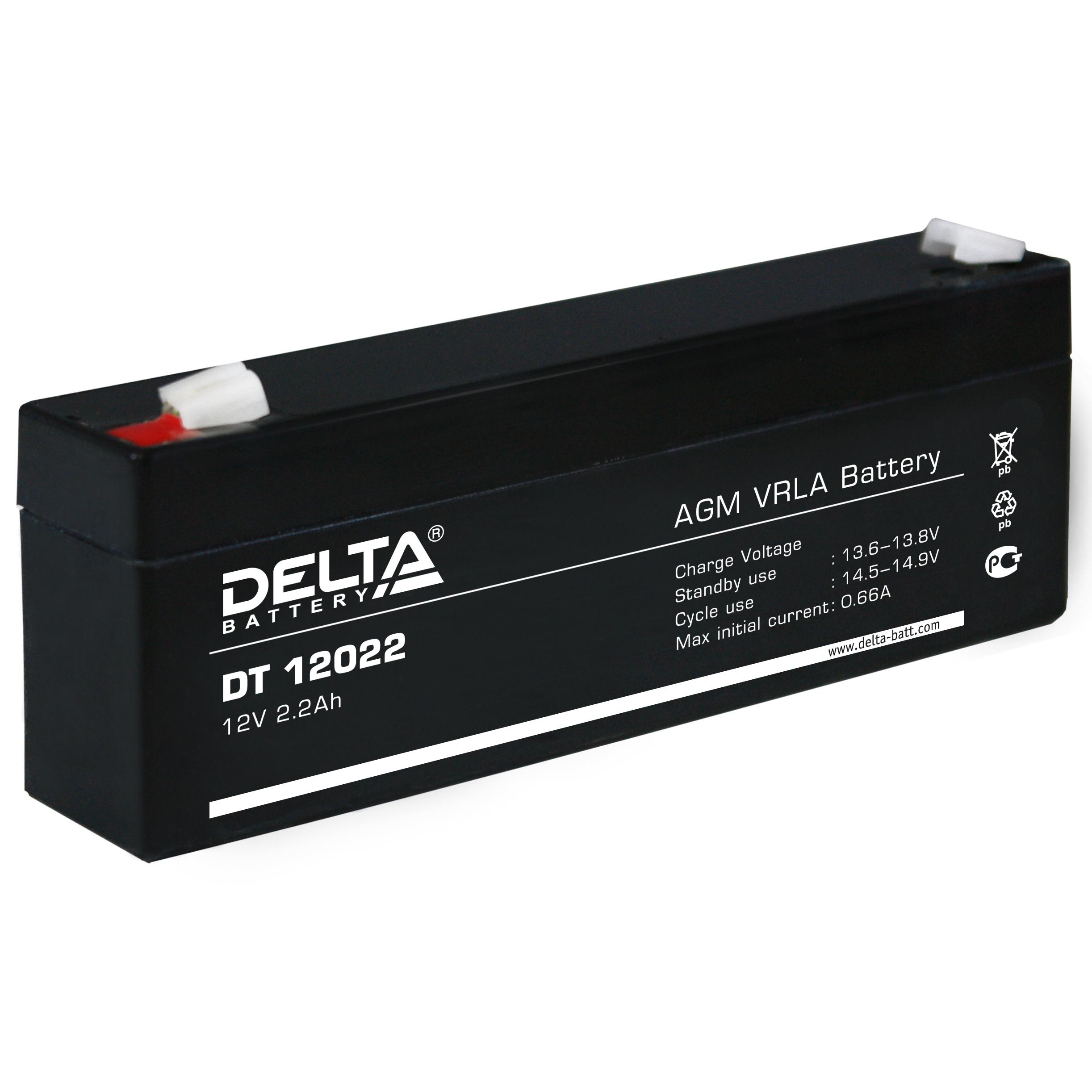 Аккумулятор свинцово-кислотный акб delta (дельта) dt 12022 1.
