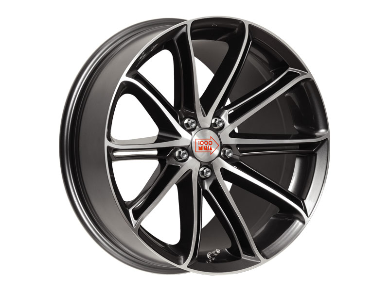 Легковой диск 1000 Miglia MM1007 8,5x19 5x114,3 ET42 67,1 Dark Anthracite High Gloss